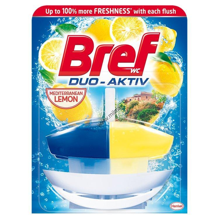 Bref Duo Aktiv tekutý WC blok komplet Lemon 50 ml