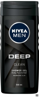 Nivea Men Deep clean sprchový gél 500 ml