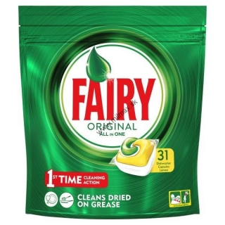 Fairy Original All in One Lemon Dishwasher Tablets 31 pack