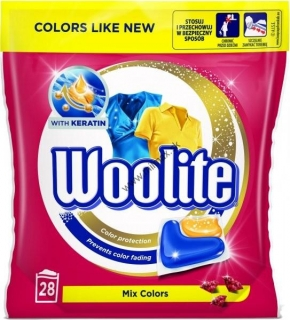 Woolite gelové kapsuly Mix Colors 28 ks