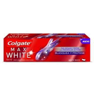 Colgate Max White White & Protect Gentle Mint zubná pasta 75 ml