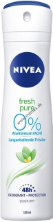 Nivea Fresh Pure 0% Aluminium deospray 150 ml