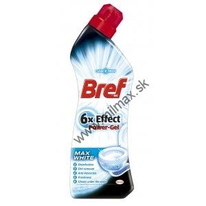 Bref 6xEffect WC čistič 750ml Max White