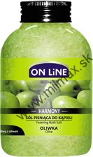 ON LINE Harmony Soľ do kúpeľa Oliva 600g
