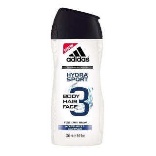Adidas 3 Active Hydra Sport Men sprchový gél 250 ml