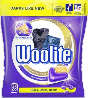 Woolite gelové kapsuly Black, Darks, Denim 28 ks